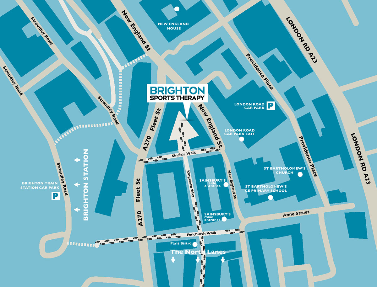 Brighton Sports Therapy - location map