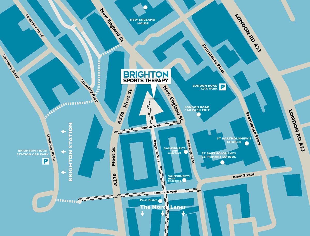 Brighton Sports Therapy - location map